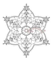 How To Knit: Crochet snowflakes, free crochet pattern Filet Crochet, Mandala Au Crochet, Crochet Snowflake Pattern, Crochet Motifs, Crochet Snowflakes, Crochet Diagram, Doily Patterns, Thread Crochet, Crochet Doilies