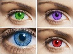 Colored contact lenses are available with or without strength. You can change your own eye color or just intensify something. The colored lenses are trendy. To make the new look look natural, the lens Cool Contacts, Green Contacts Lenses, Colored Contacts, Eye Contacts, Types Of Contact Lenses, Special Effect Contact Lenses, Change Your Eye Color, Halloween Contacts, Sparkling Eyes