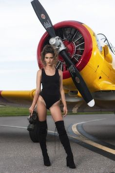 Collection of Aviation Pin Up and Nose Art copyrights belong to their respective owners. Car Girls, Pin Up Girls, By Any Means Necessary, Pin Up Models, Aircraft Design, Nose Art, Military Aircraft, Sexy Legs, Pinup