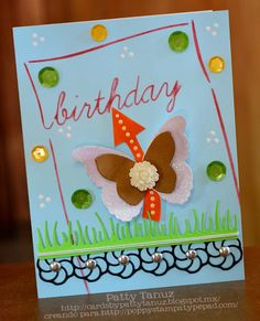 BIRTHDAY STENCIL: MEMORY BOX DIECUTS: POPPY STAMPS :)