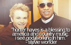 Stevie Wonder's comments about Hunter Hayes!!!