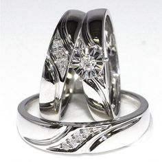 0 5ct Diamond His And Her Trio Wedding Rings Set 10k Yellow Gold Mens 5 5mm Wide Womens 10mm Midwestjewell Midwest Jewelers Jewellers Pinterest