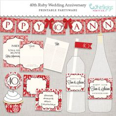 #40th #Anniversary-Party : A Ruby and Ivory print-it-yourself collection. Customized too!
