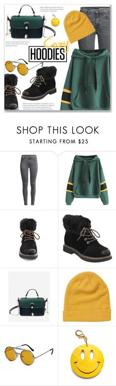 """""""Casual Oversized Letter Ribbed Panel Hoodie"""" by jecakns ❤ liked on Polyvore featuring Billabong, Spitfire and Edie Parker"""