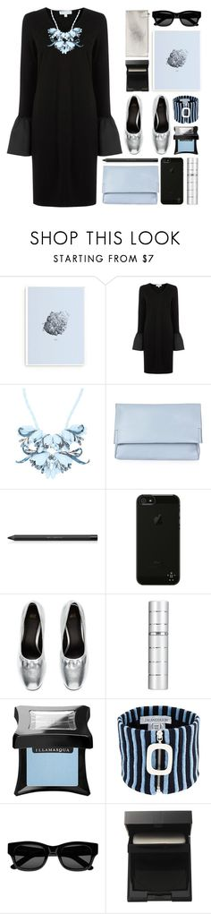 """""""black / blue / silver"""" by foundlostme ❤ liked on Polyvore featuring Form Us With Love, Warehouse, Ek Thongprasert, Topshop, shu uemura, Belkin, Illamasqua, J.W. Anderson, Sun Buddies and SUQQU"""