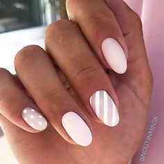 Pink Matte Nails With Stripes Easy, cute and fun summ. - Pink Matte Nails With Stripes Easy, cute and fun summer nail designs are waiting for you to get inspired with. Make sure that you greet the beach season right! Bright Summer Nails, Cute Summer Nails, Fun Nails, Cute Summer Nail Designs, Winter Nail Designs, Summer Design, Almond Acrylic Nails, Striped Nails, Nails With Stripes