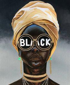 Beautiful black love art, black girl art, black is beautiful, black Black Girl Art, Black Girl Magic, Black Girls, African American Art, African Art, Art Noir, Arte Black, Art Et Design, Black Art Pictures