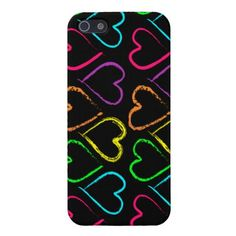 Colored Hearts - iPhone 5 Case