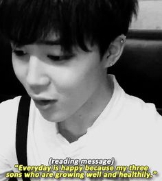 Jimin reading a fan's message and being cute!