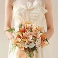 Peach theme the orchids!