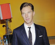 Benedict on October 11, 2013 at the screening of DreamWorks Pictures' The Fifth Estate hosted by The Cinema Society, Vanity Fair, and Richard Mille at The Crosby Hotel in Soho.