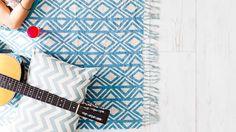 DIY hessian floor rug
