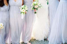 lavender dusty blue pale sky #bridesmaid dresses long and flowy