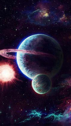 Space Phone Wallpaper, Planets Wallpaper, Galaxy Wallpaper, Galaxy Painting, Galaxy Art, Fantasy Landscape, Fantasy Art, Space Artwork, Spray Paint Art