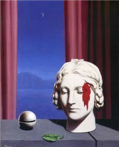 Memory - Rene Magritte Completion Date: 1948 Place of Creation: Brussels, Belgium Style: Surrealism Period: Mature Period Genre: allegorical painting Technique: oil Material: canvas Dimensions: 59 x 49 cm
