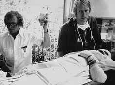 James Hunt & Niki Lauda (in bed after a horrible crash)