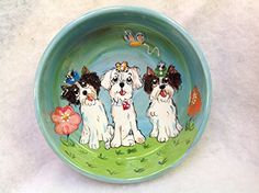 Dog Bowl Coton de Tilear  6 Dog Bowl for Food or Water  Personalized at no Charge Signed by Artist Debby Carman ** Check out the image by visiting the link.