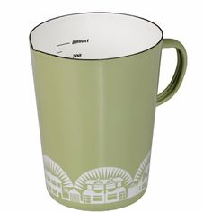Large Measuring Jug: Inspired by mid-century Scandinavian cookware, the Mini Moderns enamelware range follows in the tradition of combining great colour and pattern, with quality and practicality.