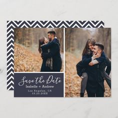 Elegant Navy Blue Photo Collage Save the Date Photo Boxes, My Themes, Good Cheer, Personal Photo, Paper Texture, Save The Date, Dating, Collage, Landscape