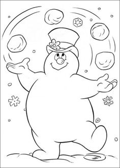 frosty the snowman coloring page from frosty the snowman category