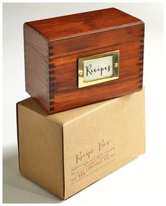 SusyJack Custom Wood Recipe Box...a wanna be Culinary Queen's first step towards Kitchen Greatness.