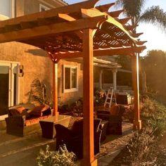 Arched Pergola Kits Curved Pergola, Building A Pergola, Deck With Pergola, Pergola Kits, Gazebo, Patio Kits, Patio Ideas, Backyard Ideas, Garden Ideas