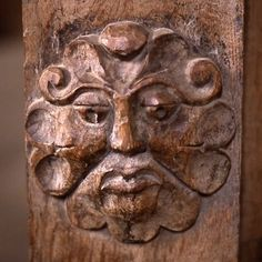 'Foliate' type of Green Man on a screen at Dore Abbey