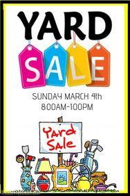 Garage Sale Poster  Printables    Sale Poster