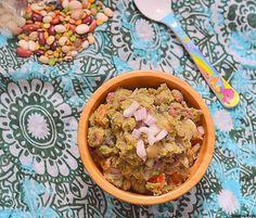13 bean soup mix chaat recipe - 13 bean soup mix chundal- healthy snack recipes