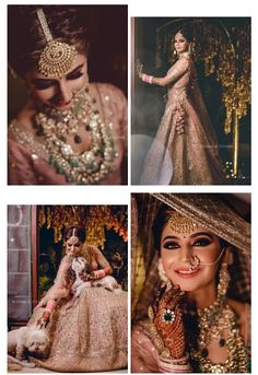 51 Most Beautiful Indian Bridal Makeup Looks and Clothing Ideas - Dulhan Images - AwesomeLifestyleFashion Indian Bridal Outfits, Indian Bridal Fashion, Indian Bridal Makeup, Indian Dresses, Indian Bridal Wear, Dresses Uk, Bridal Poses, Bridal Photoshoot, Bridal Portraits