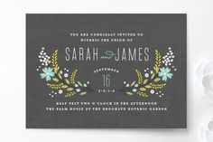 Botanical Blooms Wedding Invitations by Kristie Kern at minted.com MICK & I BOTH LOVE THIS ONE...