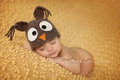 SOOOOO CUTE  Newborn Baby Boy Crochet Owl Hat  by jerribeccahats, $15.99