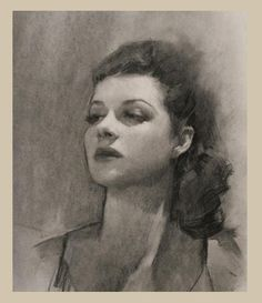 Charcoal is a great medium for studying the effect of light and shade across the subjects face. Its a flexible medium that can be used lose or highly rendered.