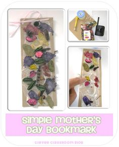 Mother's Day craft bookmarks that are textured and scented and so easy to make.