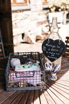 Message in a Bottle Guest Book Wonwood Barton Wedding Emma Barrow Photography #MessageinaBottle #GuestBook #Wedding