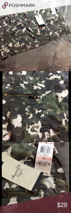 American Rag camo mini skirt NWT SZ 13 American Rag camo mini skirt. Camouflage. Size 13. New with tags. American Rag Skirts Mini