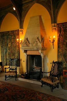 Interior of Berkeley Castle, England, kept in the same family for over 900 years.