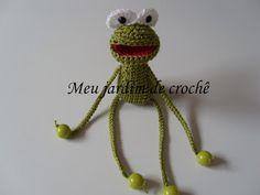 Meu jardim de crochê: Fred - o sapo de crochê