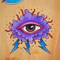 Cute Canvas Paintings, Small Canvas Art, Diy Canvas Art, Hippie Painting, Trippy Painting, Painting & Drawing, Trippy Drawings, Psychedelic Drawings, Art Drawings