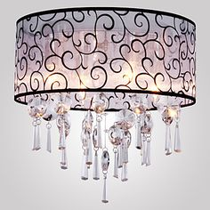 Elegant Crystal Chandelier with 4 Lights – USD $ 146.13