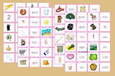 Serie Rosa Montessori – Tarjetas para imprimir en catalán Montessori Materials, Home Schooling, Homeschool, Education, Log Projects, Preschool Education, Flower Parts, Animal Classification, Teaching