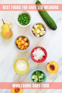 Food Ideas & Baby Lead Weaning Recipes for Starting Solids with Whole Foods