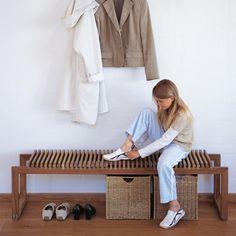 Teak Cutter Bench by Skagerak Office Furniture, Furniture Design, Hall Furniture, Custom Furniture, Garderobe Design, Wooden Garden Furniture, Entry Bench, Bench Set, Contemporary Office