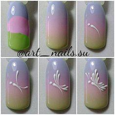 Про Ногти (МК,материалы для ногтей)Nails PRO™ #nailchristmas #easternails Butterfly Nail Designs, Butterfly Nail Art, Nail Art Arabesque, Nail Art Dessin, Romantic Nails, Nail Drawing, Nail Mania, Nail Techniques, Nail Art Videos