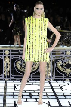 mink & tulle mini dress, of course! Atelier Versace Spring Couture 2013 | TheFashioniStyle