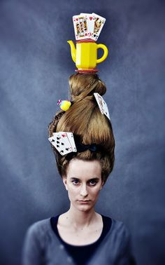 Hair : Dorota Szafrańska  photo and manipulation: Malwina de Brade model: Paula Brzezińska Whacky Hair Day, Wacky Hair, Crazy Hair Days, Hair Art, Mermaid, Halloween, Model, Crazy Hair