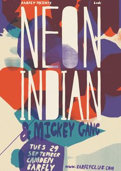 NEON INDIAN and mickey gang. #concert #poster #color #illustration