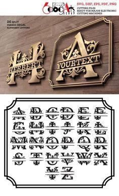 Alphabet A, Monogramm Alphabet, Make It Easy, Font Software, Gravure Laser, Router Projects, Letter Vector, Cnc Plasma, Lettering Styles