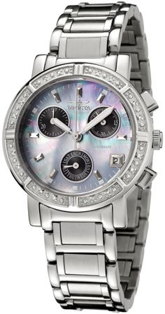 #Invicta #Watch , Invicta Women's 0610 Wildflower Collection Diamond Chronograph Watch