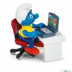 Puffi - The Smurfs - Puffo in ufficio - Schleich 40263 - lalberoazzurro.net